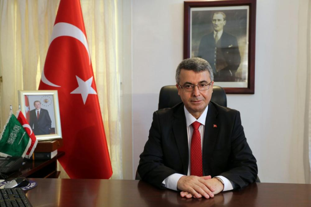 Turkish Consul General Dr. Akif Menevse in his office. — Saudi Gazette photo