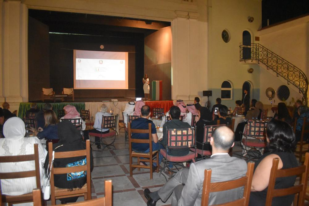 An Italian movie is being shown at the Italian Cultural Center in Jeddah. — SG photo by Abdulaziz Hammad