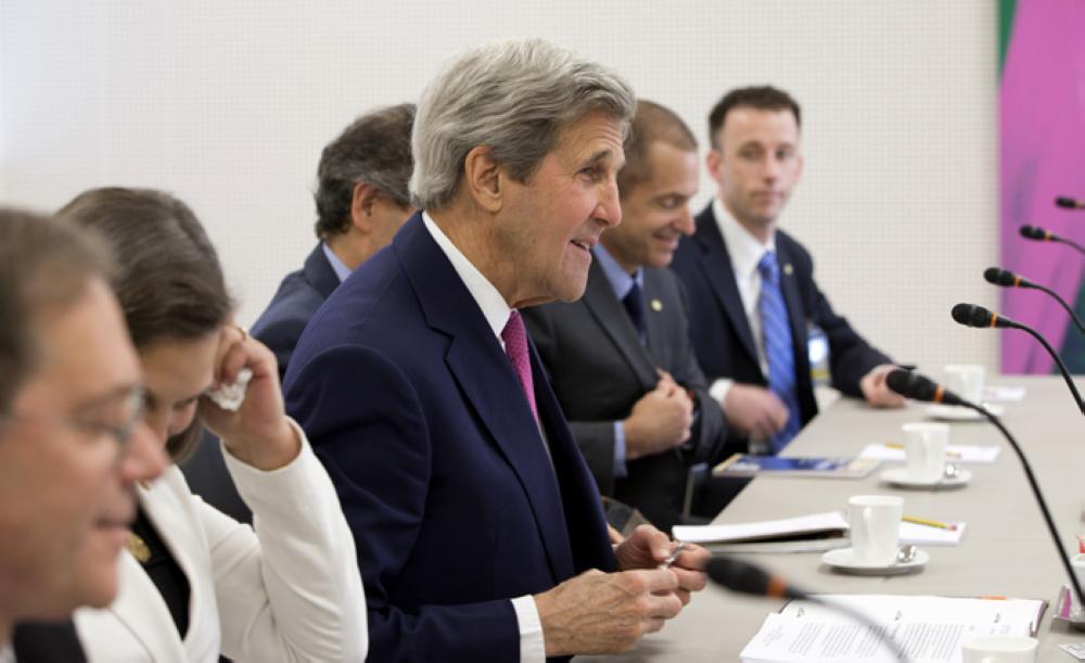 Barack Obama speaks at the Obama Foundation Summit in Chicago, Wednesday. — AFP