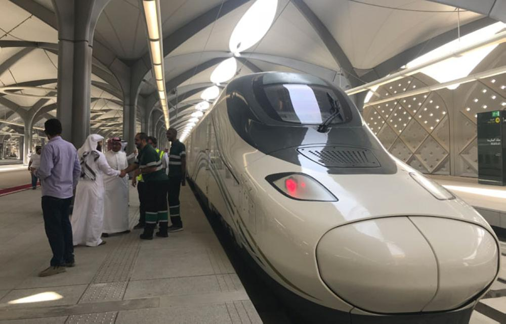 The train of the Haramain High Speed Railway tested its first trial run between Jeddah and Makkah today. — Photos by Layan Damanhouri