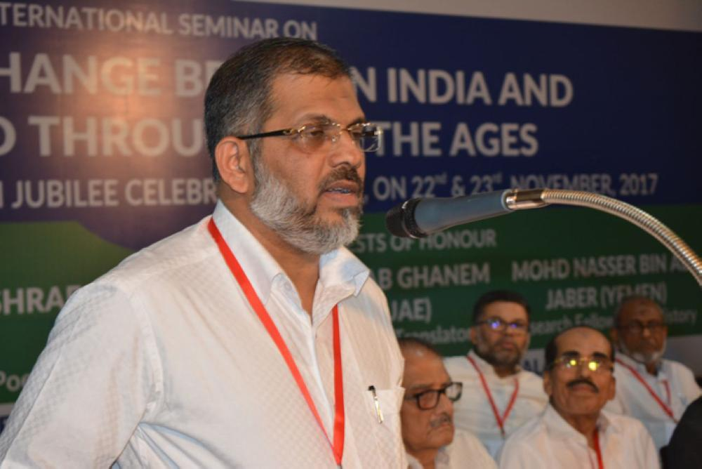 K. Mohammed Basheer, vice chancellor of Calicut University, opens the seminar delivering his keynote speech. (SG photos)