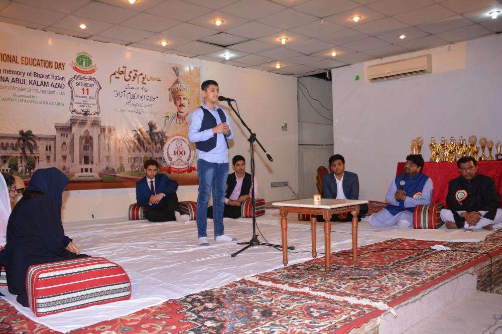 A view from the Parody poetry session (Tamsili Mushaira)