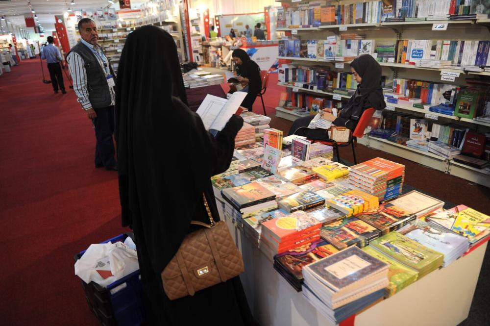 Book lovers browse through a varied selection on offer at the Jeddah International Book Fair which opened up for visitors on Thursday.  — Courtesy photos