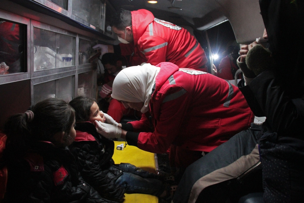 29 patients evacuated from Damascus suburbs siege — Red Cross