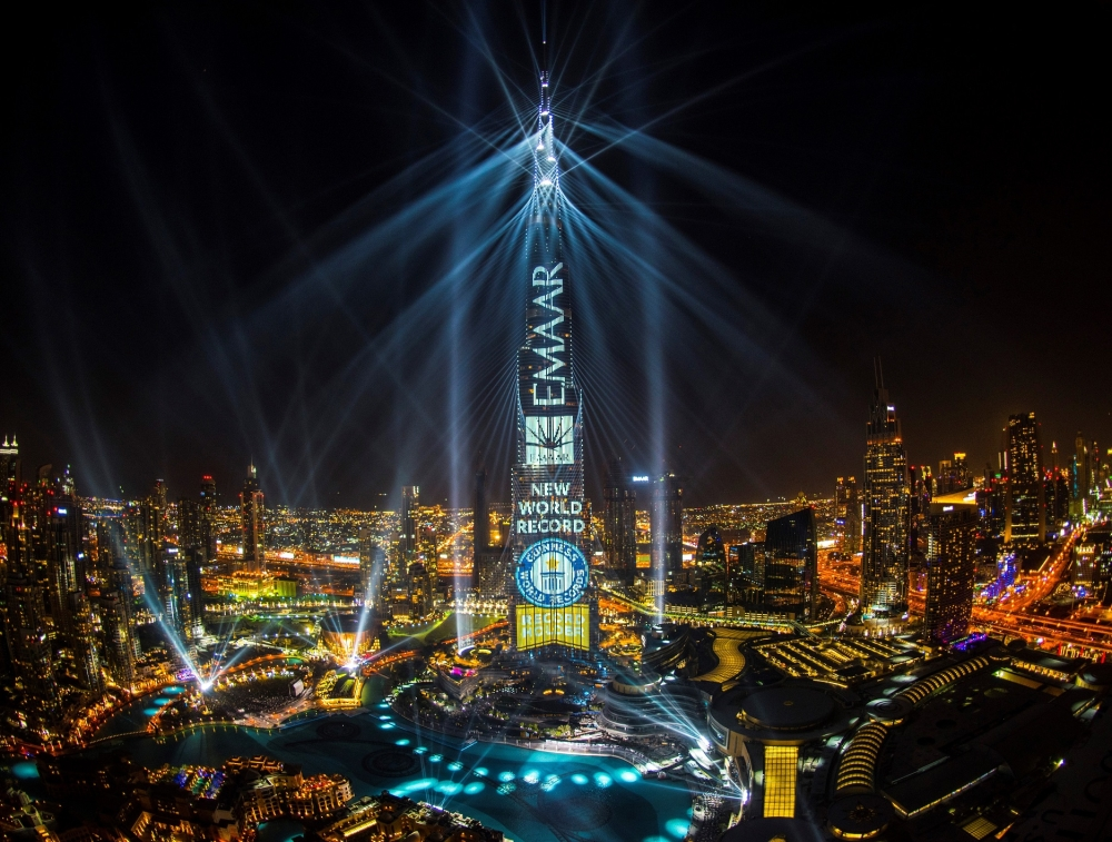 Emaar bags Guinness World Record title for largest light and sound show on a single building
