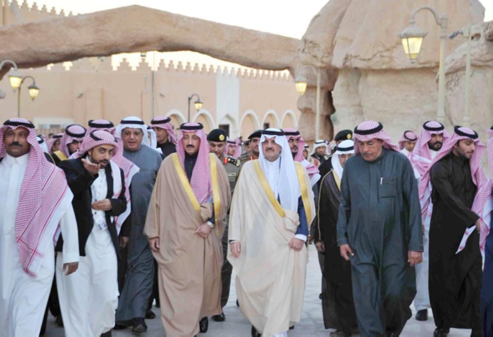 Eastern Province Emir Prince Saud Bin Naif visits Jabal Al-Qarah in Al-Ahsa.