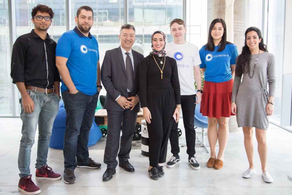 Members of ConsenSys in Dubai office. — Courtesy photo