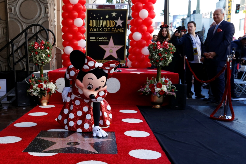 After 90 years, Minnie Mouse gets Hollywood Walk of Fame star