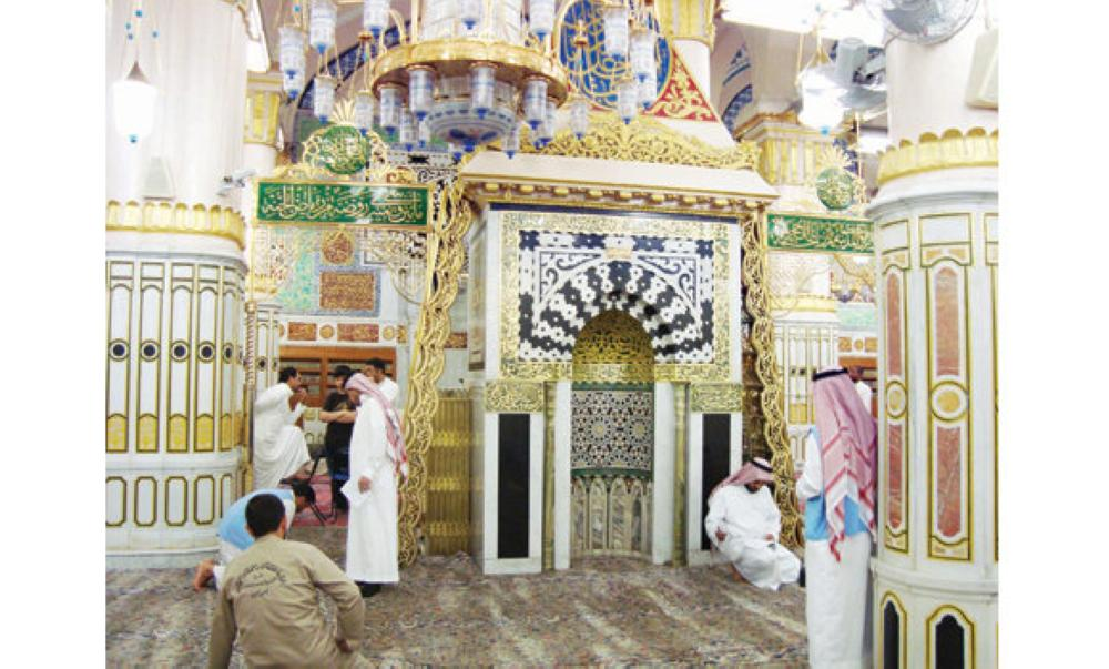 The shifting of the Prophet's Mihrab reduces the time taken by an individual to visit the Prophet's grave and pay him homage from 15 minutes to 20 seconds. — Courtesy photo