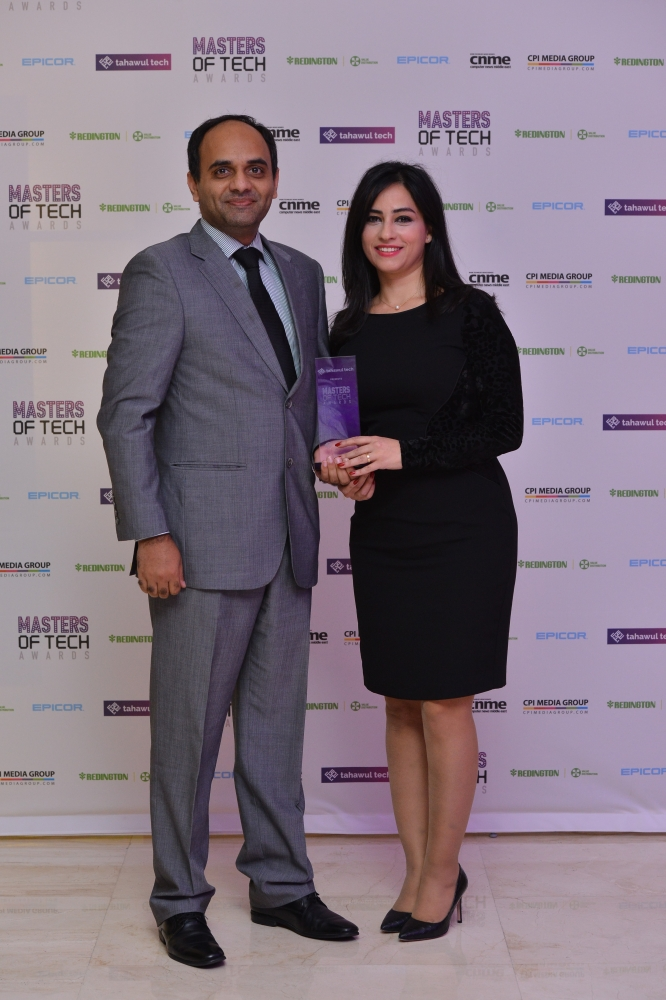 Sage receives the Best Accounting Software in the Middle East at the 2018 Masters of Tech Awards