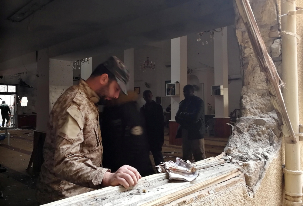 Twin bombing at Benghazi mosque kills two, wounds 75 in Libya