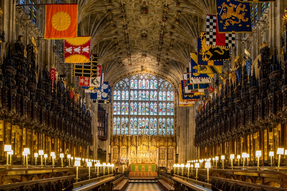 The Quire in St George's Chapel, at Windsor Castle, where Prince Harry and Meghan Markle will have their wedding service, is seen in Windsor, United Kingdom. - Reuters