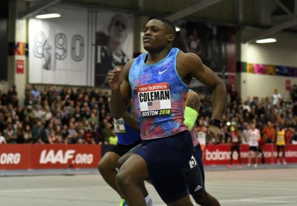 Coleman breaks 20-year-old 60m indoor world record