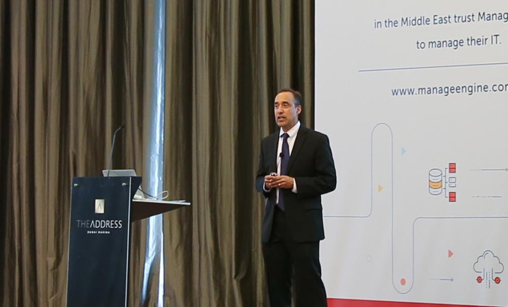 Raj Sabhlok at the Middle East User Conference. — Courtesy photos