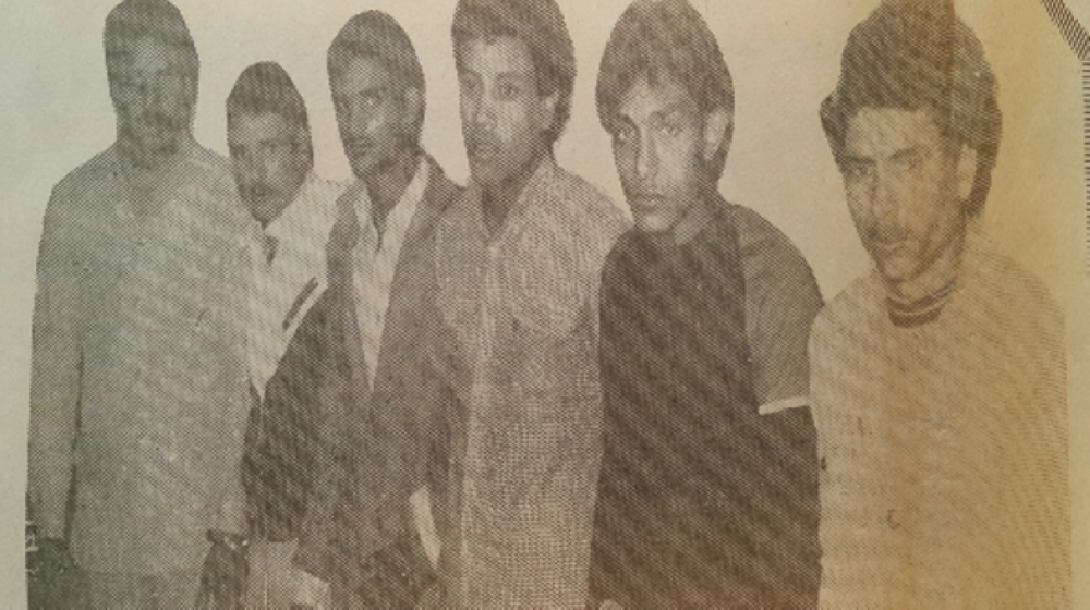 Photo of gang rapists accused of attacking a girl in Maadi, Egypt in 1986. — Courtesy photo