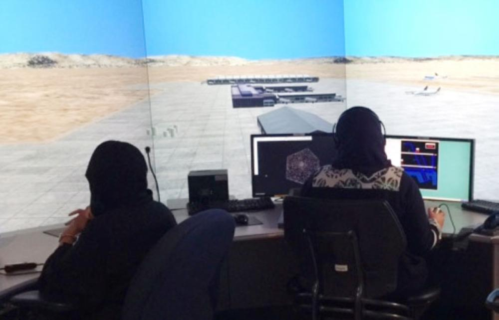 The training course for the first batch is being carried out by the state-owned company Saudi Air Navigation Services (SANS) in cooperation with the Saudi Civil Aviation Academy as part of an ambitious program to create more jobs for Saudi women. — Courtesy photo