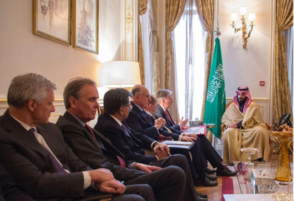 Crown Prince Muhammad Bin Salman holds talks withBritish Chancellor of the Exchequer Philippe Hammond in London on Thursday — SPA