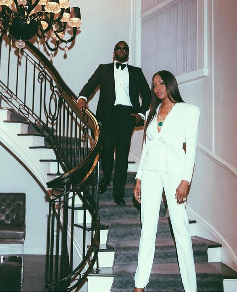 """Sean """"Diddy"""" Combs and Naomi Campbell"""