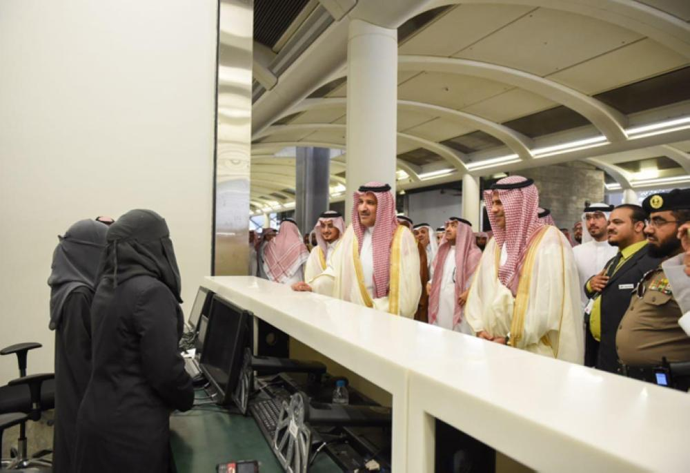 Prince Faisal Bin Salman, emir of Madinah region, tours Haramain Railway Station. — SPA