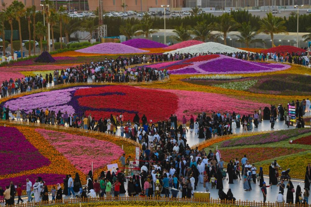 A view of the flower and gardening festival organized by the Royal Commission in Yanbu.