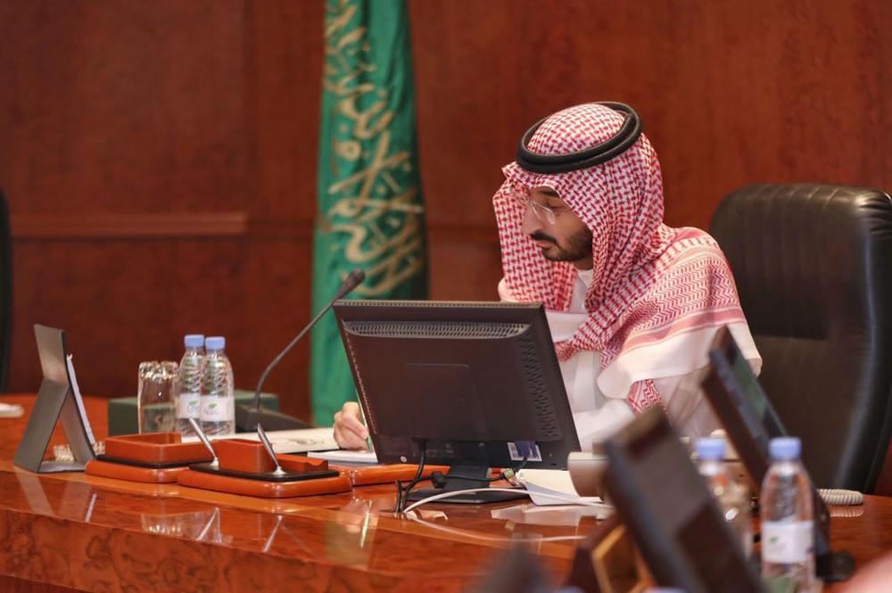 Deputy Emir Prince Abdullah Bin Bandar chairs the Central Haj Committee meeting in Makkah.
