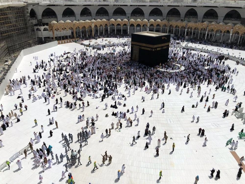 The mataf area now appears wide and open as most of the barriers have been removed. — Courtesy photo