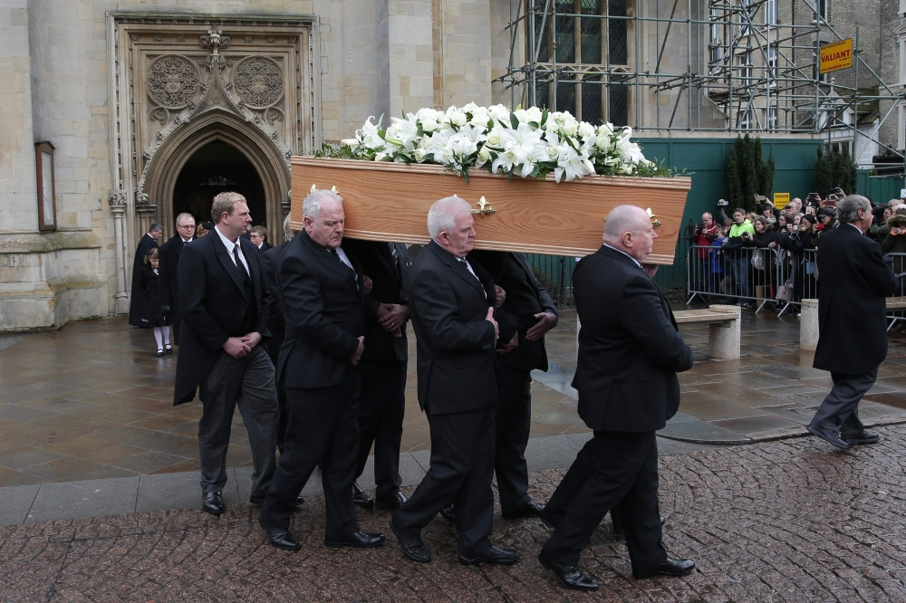Stephen Hawking's funeral held in Cambridge, Eddie Redmayne gave reading from Ecclesiastes