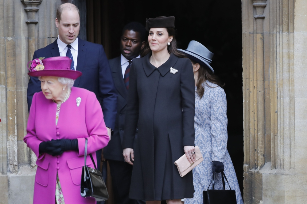 Pregnant Kate Middleton and Prince William Attend Easter Services With the Queen