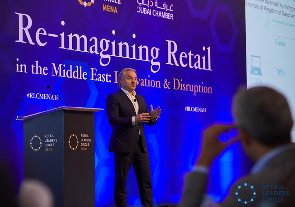 Gemma D'Auria, leader of the retail practice at McKinsey Middle East, at RLC MENA 2018.