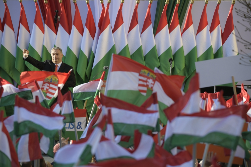 Hungary's Orban seeks re-election on anti-migrant platform
