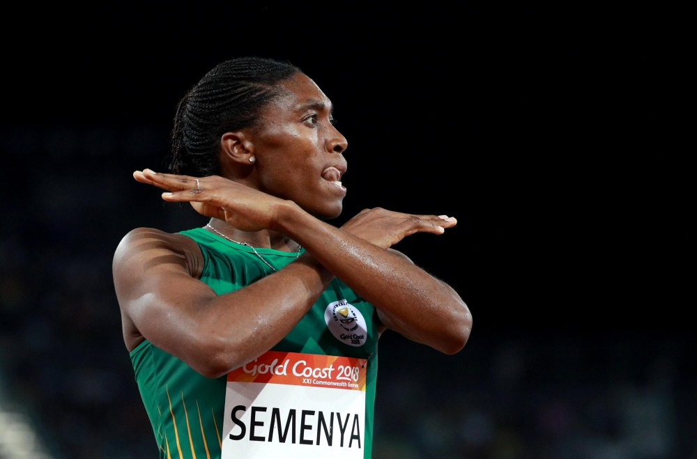 Caster Semenya wins gold in 1500m at #CG2018