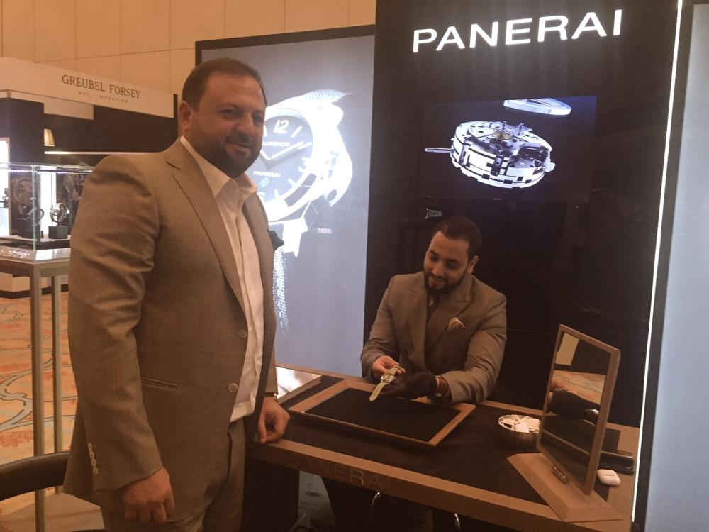 ilvin George Managing Director Middle East and India at Officine Panerai booth in Jewellery Salon Riyadh