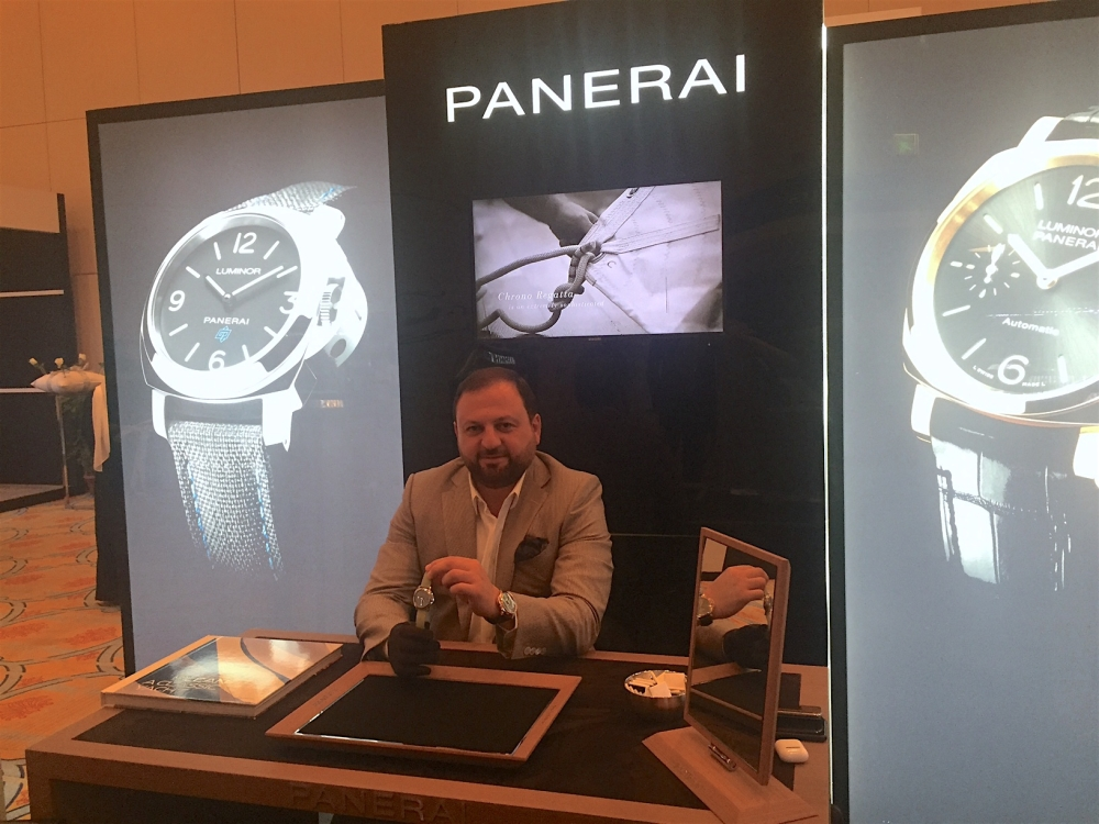 Milvin George, Managing Director. 'Middle East and India at Officine Panerai booth in Jewellery Salon Riyadh