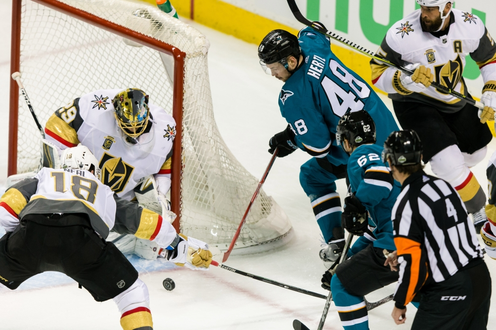 Game 2 win over Knights in Las Vegas fuels Sharks' confidence