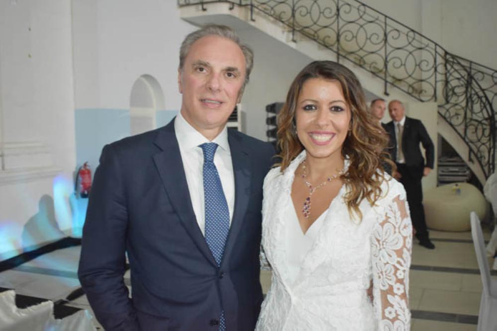 Italian Ambassador Luca Ferrari along with Consul General Elisabetta Martini.