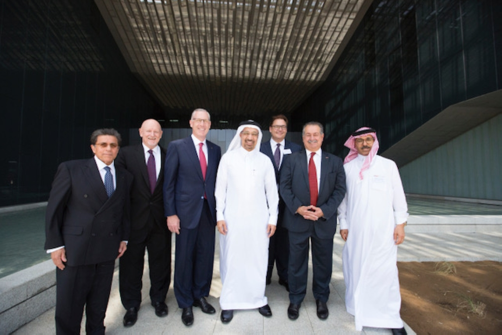 KAUST and Dow officials at the inauguration of the newly constructed Dow Innovation Center.