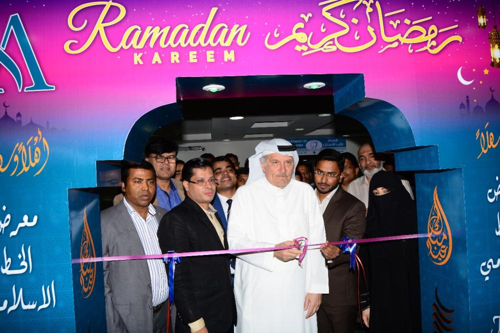 Literary luminary and director of Abeer Medical Group Khaled Almaeena inaugurating the Islamic Art Gallery at Abeer Medical Center, Bawadi. — Courtesy photos