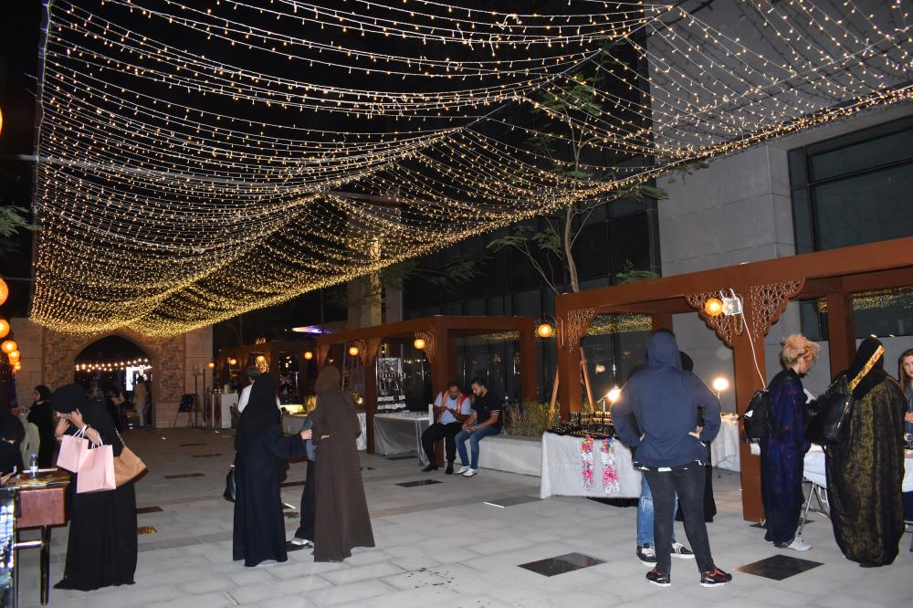 Traditional Egyptian lights illuminate Khan Al-Khalili festival at Jeddah's Emaar Square.