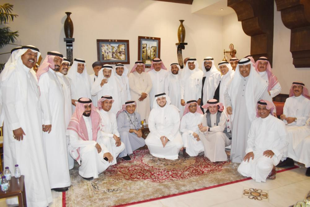 A group picture for the guests at the house of Mohammed Al-Nefaie.