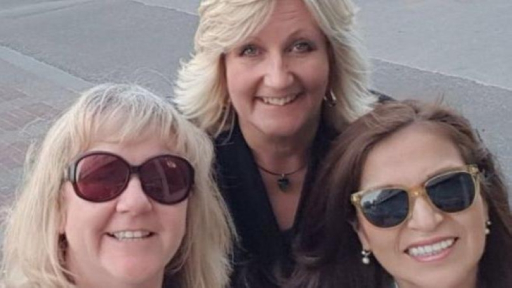 Susan Newbon, (L), with two other women selected to train Saudi female driving instructors. — Photo courtesy BBC