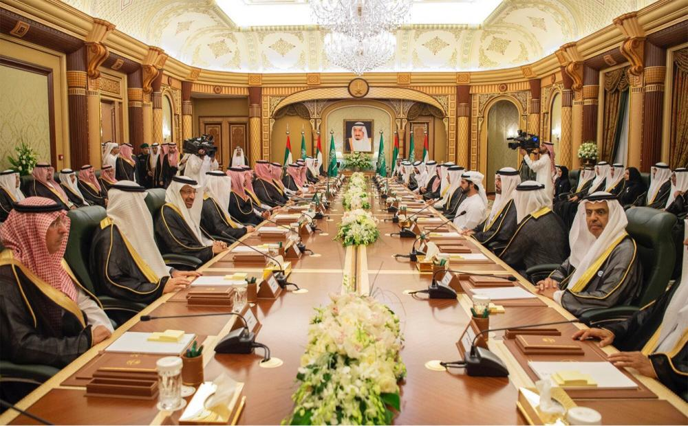 A general view of the meeting during Saudi-UAE summit in Jeddah. — Reuters