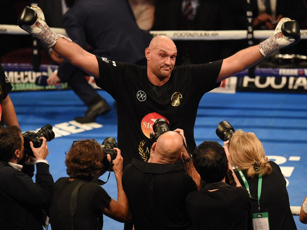 Tyson fury got a unusual  victory after returning to the ring