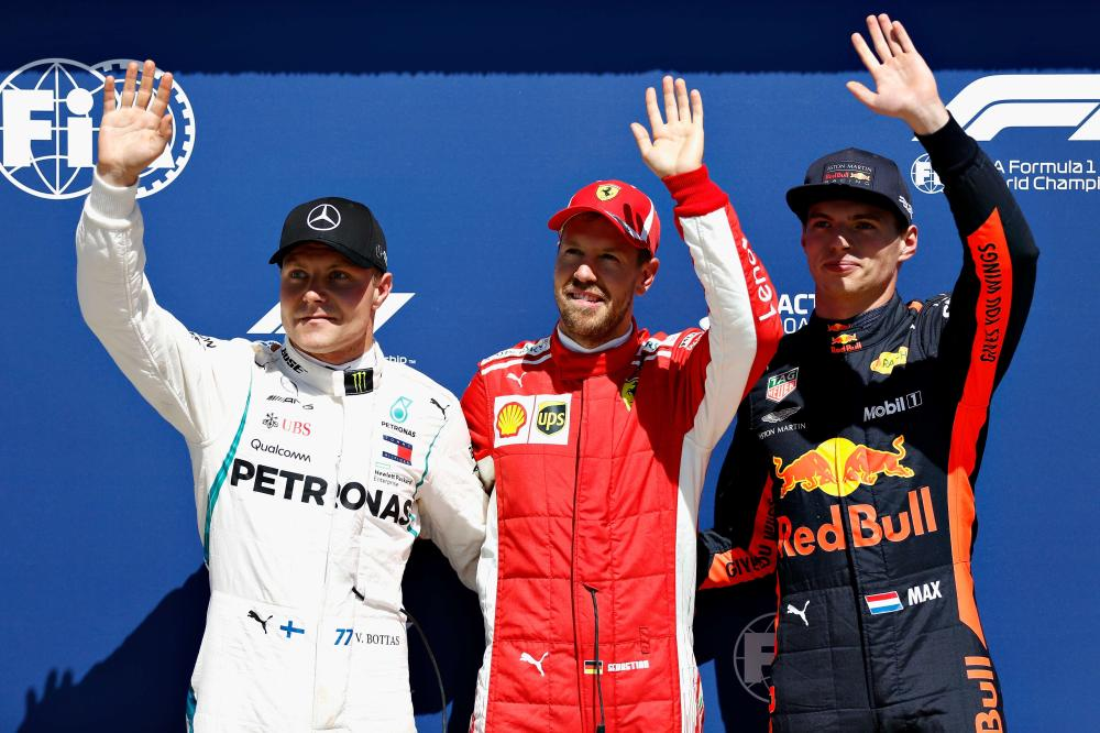 Canadian GP: Vettel cruises to win from Bottas, Verstappen