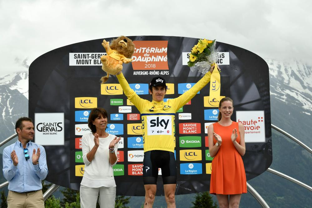 Geraint Thomas survives late scare to win Criterium du Dauphine