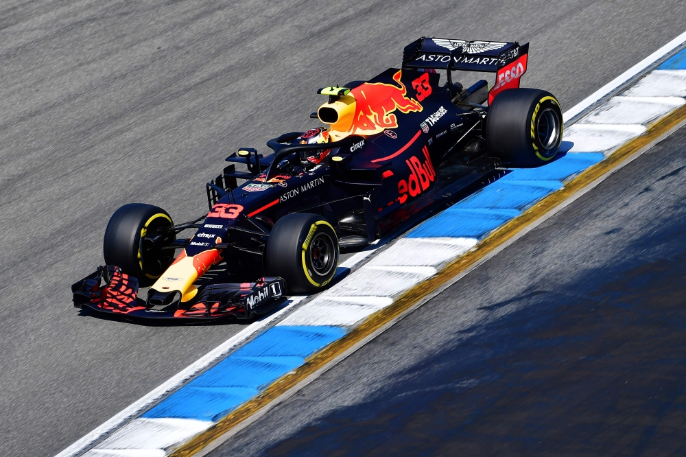 Verstappen sets new lap record in German GP practice run