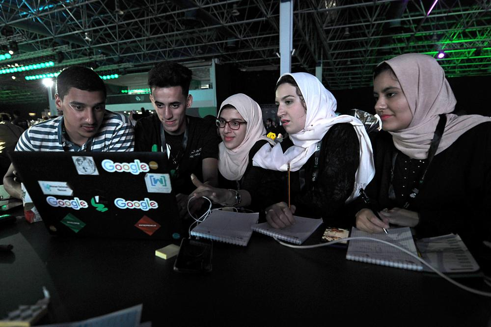 More than 3,000 software developers and 18,000 computer and information-technology enthusiasts from more than 100 countries take part in the three-day Hajj Hackathon in Jeddah. — AFP