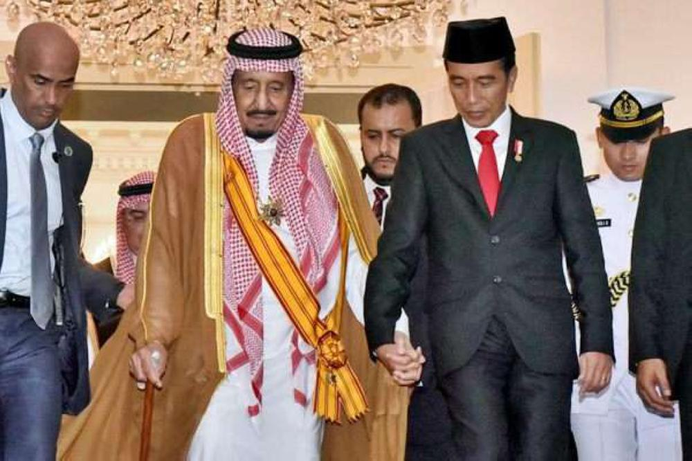 King Salman with President Joko Widodo