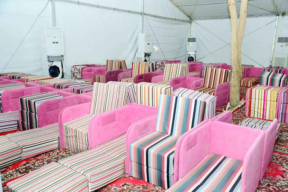 Tents in Mina and Arafat have been made ready for the pilgrims from Qatar. — Okaz/SG photo