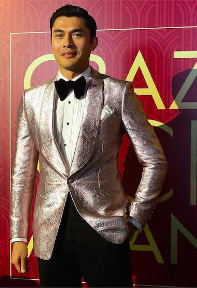 Henry Golding in Tom Ford