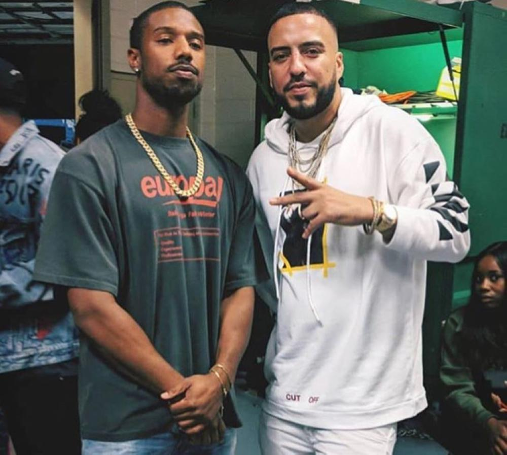 Michael B Jordan in Balenciaga and French Montana in Off White